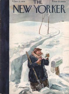 Barlow, P - Shoveling Walk to Mailbox- 'New Yorker'- Jan. 1938