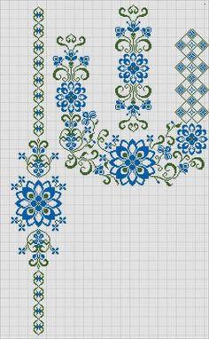 Kanaviçe geometrik bordür köşe motif çerçeve seccade