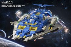 """https://flic.kr/p/nx5FF5   From the Archives...an old spaceship   In the spirit of throwback Thursdays; I dug up an old MOC from 2010--just after my dark age emergence.  Its a somewhat primitive build, but full of my nostalgia fuelled imagination from those heady days of classic space in my youth.  I'm not a space builder by any means; but I have always had a soft spot for spaceships, in particular, classic space (and later-day """"neo-classic"""" space).  This spacecraft was built from ..."""