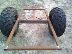 Quad Trailer, Trailer Diy, Small Trailer, Trailer Plans, Snowmobile Trailers, Atv Trailers, Welding Cart, Diy Welding, Metal Projects