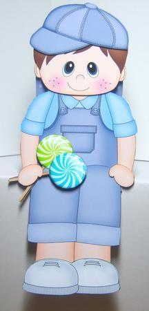 Card Gallery - 3D On the Shelf Card Kit - Little Lollipop Toddler Kristofer