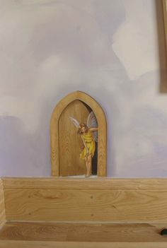 décor pour chambre d'enfant  ♔  Trompe l'oeil detail of a Child's Room!!! Sweet!  Deco Haven Artistry can re-create this for you!   ♔