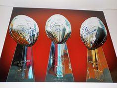 New York Giants Super Bowl MVPs Signed 16x20 Photo