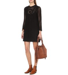 FREE PEOPLE - Rosalind open-knit dress | Selfridges.com