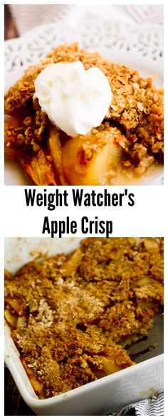 Low Carb Recipes To The Prism Weight Reduction Program Weight Watcher's Apple Crisp Weight Watcher Desserts, Weight Watchers Snacks, Plats Weight Watchers, Weight Watcher Dinners, Weight Watchers Apple Recipes, No Calorie Foods, Low Calorie Recipes, Ww Recipes, Light Recipes