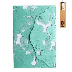 YUFENG 24pcs Hollow Floral Laser Cut Tiffany Blue Wedding Invitations Cards Kit for Marriage Engagement Birthday Bridal Shower >>> Click on the image for additional details. (This is an affiliate link and I receive a commission for the sales)
