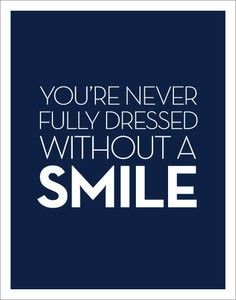 So smile.