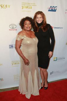 Faye Washington YWCA Greater Los Angeles Chief Executive Officer and Kathy Ireland at 2013 Rhapsody Ball.