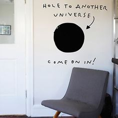 Black Hole Another Universe Funny Home Decal Wall Art Sticker Interior Business