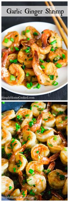 Quick, healthy, and filling. These garlic ginger shrimp will not disappoint.
