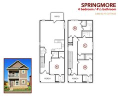 4 bedroom, 4.5 bath Springmore