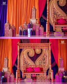 Indian Wedding Mandap, Indian Wedding, Decor, Garba, Sangeet, Mehndi, Massachusetts, New Hampshire, Decorator, Backdrop, Mandap, Moroccan theme wedding, paisley, swing, jhula, sangeet decor