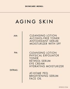 The+Ultimate+Daily+Skincare+Menu+for+Every+Skin+Type+via+@ByrdieBeauty