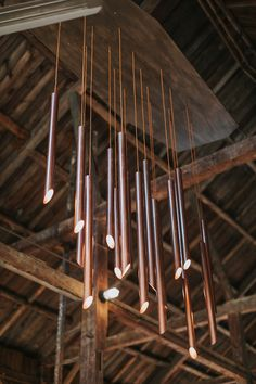 Cunningham Farm, New Gloucester Maine Wedding Pipe Lighting, Event Lighting, Lighting Design, Pearl Love, Copper Tubing, Light Installation, Muted Colors, Hanging Lights, Fall Wedding