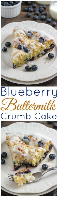 Blueberry Buttermilk Crumb Cake - easy to make and SO delicious!