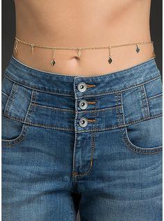 Diamond Belly Chain, , hi-res