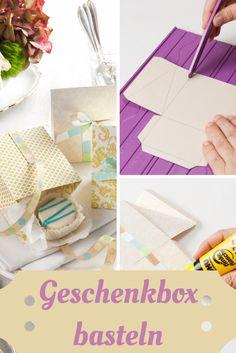 #geschenke verpacken ist nicht jedermanns Sache, doch diese #geschenkboxen kann jeder selber #basteln #diy