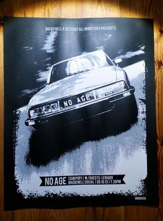 No Age gig poster - Or8 Design
