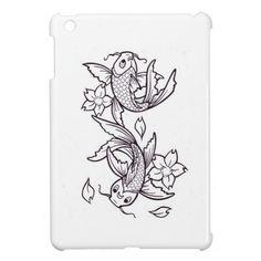 Koi fish ink iPad mini cases