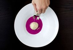 Red Cabbage Gazpacho with Grain Mustard Ice Cream | Molecular Recipes