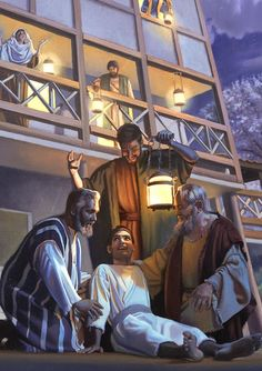 The apostle Paul performing a miracle
