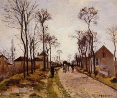 The Road to Saint Cyr at Louveciennes - Camille Pissarro - WikiArt.org