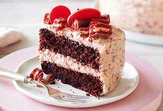 Arnott's red velvet Tim Tam cake for the Smooth Festival of Chocolate, Sydney, September 12-13, 2015.