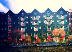 Beautiful houses in the diamond district of Amsterdam.