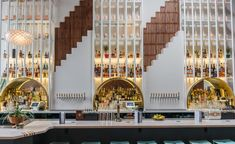 Bespoke bar by C. Wall Architecture at Chicha Cafetin, New York, USA