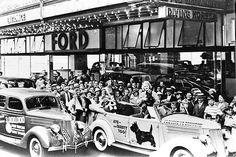 1930 Ford Atlantic City's Steel Pier Picture of Scottish Terrier on Car Door   eBay