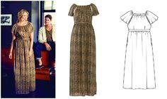 Платье с рукавами реглан #burdastyle #burda #dress #бурда #платье