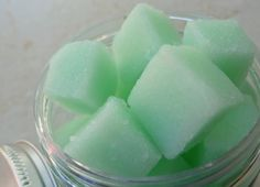 Cucumber Mint Sugar Scrub Cubes by TuckerHillTx on Etsy