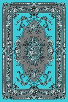 Starting at $25 Free Shipping Area Rugs| Discount Rugs| Carpet|Traditional Rugs| Modern Rugs – Bargain Area Rugs 1057 Turquoise