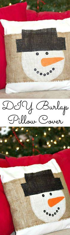 DIY Snowman Burlap P
