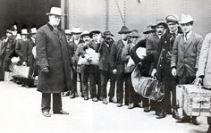 Men from Southern Italy arrive at Ellis Island 1911.