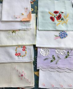 Wholesale lot of 57 beautiful vintage Hankies. All Things, Tatting, Buy And Sell, Iron, Sewing, Antiques, Crochet, Prints, Cotton