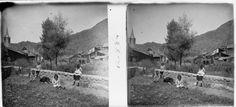 """Esterri d'Àneu_0023. """"Vista parcial d'Esterri d' Aneu"""", Josep Salvany i Blanch, 1917"""