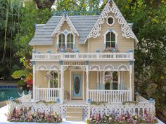 "Dollhouses by Robin Carey: ""The Darling House"" Victorian Dollhouse. Visit the blog to se more pics inside and out!!"
