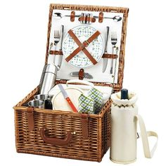 Picnic at Ascot Cheshire Picnic Basket for 2 w/Coffee Service | Domino
