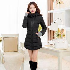 2017 Winter Jacket Women Coat Thickening Women's Cotton Coat Was Thin Cotton Women's Jacket Black 6XL Jackets for Women J231 #Affiliate