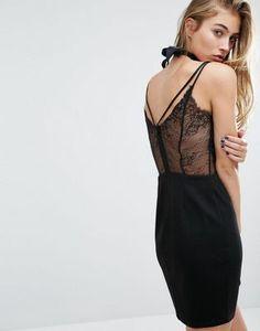 Miss Selfridge Lace Back Cami Dress