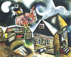 Marc Chagall, 1917, The Cemetery Gates, 00001419-Z    https://www.artexperiencenyc.com/social_login/?utm_source=pinterest_medium=pins_content=pinterest_pins_campaign=pinterest_initial