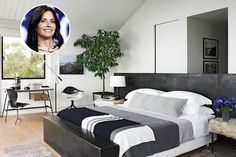 Sweet Dreams Are Made Of This? Astonishing Celebrity Bedrooms - Clearly They Didn't Save On Interior Designer - Page 54 of 63 - Psychic Monday Celebrity Bedrooms, Beachfront Property, Garage Gym, Stylish Bedroom, Black And White Colour, Hollywood Celebrities, Beautiful Celebrities, Feng Shui, Sweet Dreams