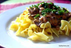 Smokey Mushroom Stroganoff #MeatlessMonday