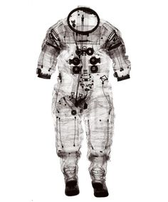 X-RAY of Space Suit worn by Alan Shepard, 1961