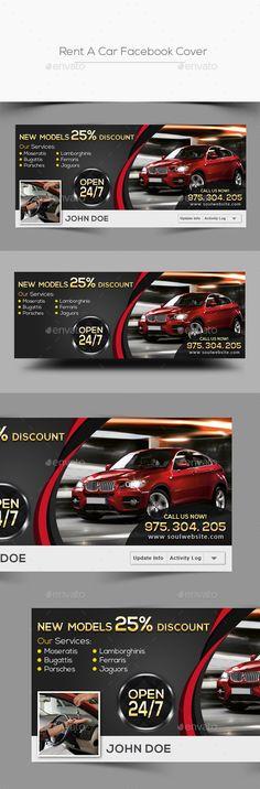 Rent A Car Facebook Cover Template PSD #design Download: http://graphicriver.net/item/rent-a-car-facebook-cover/13616673?ref=ksioks