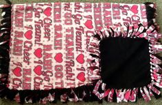 I love Cheer pink and black fleece tie blanket, reversible blanket.  Get yours here: https://www.etsy.com/listing/213573226/i-love-cheer-pink-and-black-fleece-tie?ref=shop_home_active_10 #simpleesweetboutique