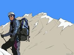 Conquering the Himalaya  #Mountains #Adventure #Trekking #illustration #trekking #travel