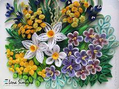 La peinture murale dessin papier Quilling bande de printemps 3 photos