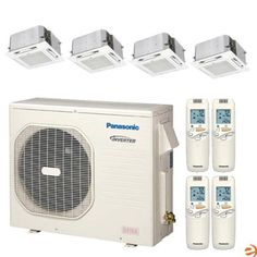 CU-4KE24NBU + (4)CS-MKE9NB4U Quad Zone Ceiling Cassette Heat Pump Min by Panasonic. $5945.95. Panasonic CU-4KE24NBU + (4)CS-MKE9NB4U Quad Zone Ceiling Cassette Heat Pump Mini Split System - 36,000 BTU Panasonic is a leading manufacturer of high quality electronic goods, and their air conditioners are no exception. The new 2012 line of Panasonic mini splits represents a step forward in both aesthetics and performance, allowing Panasonic to offer one of the top ...